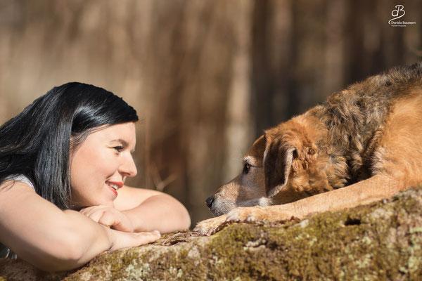 Hund und Mensch in der Hundeschule Steinenbronn
